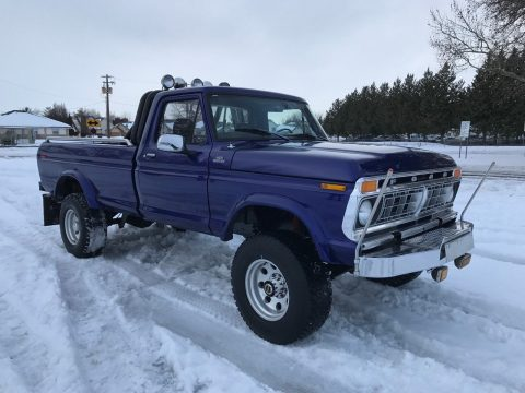 [460 eng+manual trans] 1977 Ford F-250 Custom Highboy Long Bed for sale