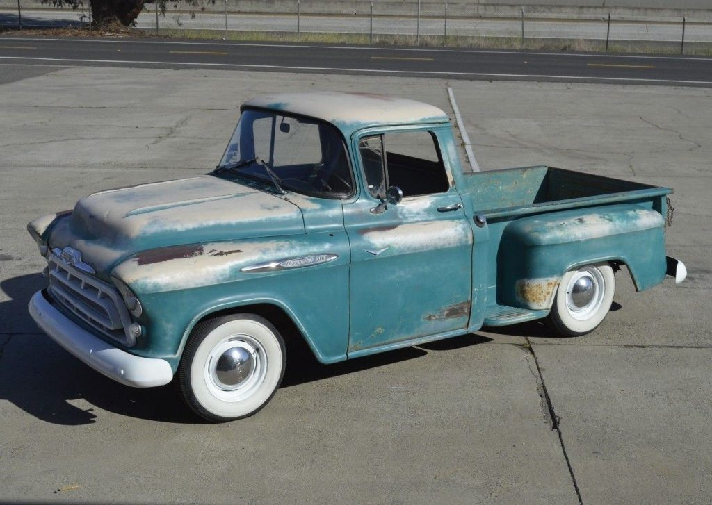 4 speed 1957 Chevrolet 3100 Pickup custom