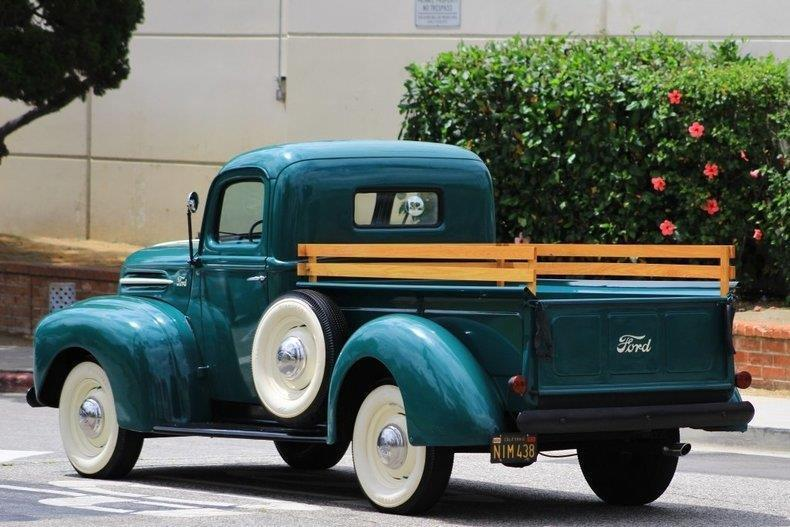 1946 Ford Stepside Shortbed 1/2 Ton 999 Miles Green Pickup / Truck Flat