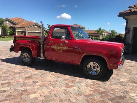 1979 Dodge D150 Little Red Express, A/C, Survivor Truck, One Repaint 360ci V8 for sale